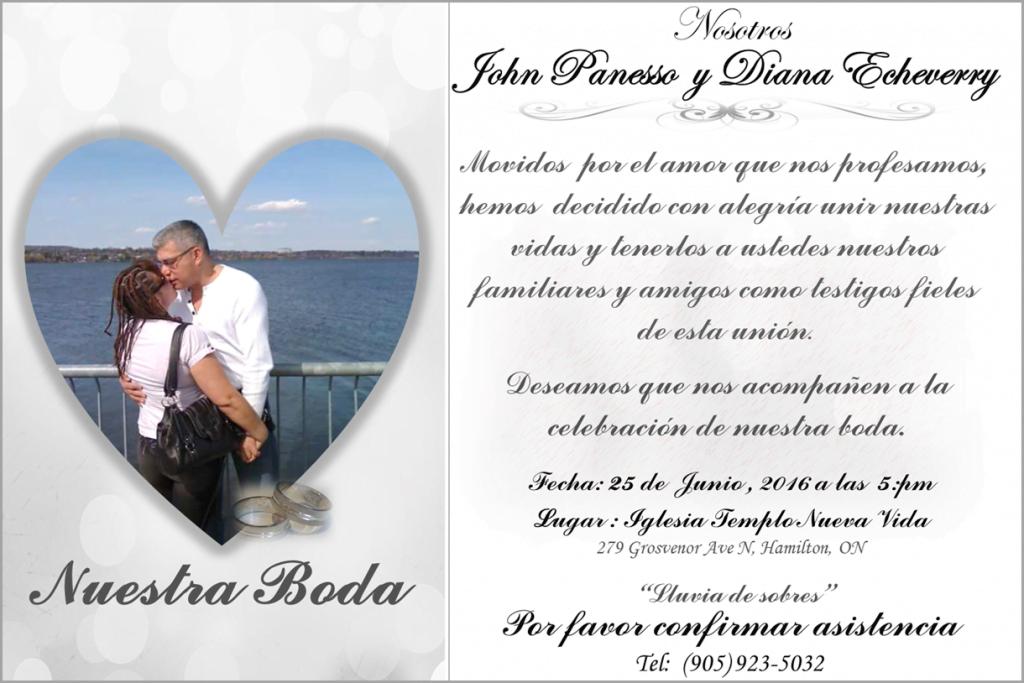 Boda de John y Diana